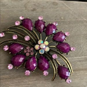 "New Purple Pin 3"" x 2""  crystals"